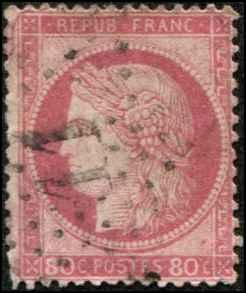 France SC# 63 Ceres 80c used SCV $13.50