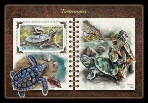 HERRICKSTAMP NEW ISSUES ST. THOMAS Turtles S/S