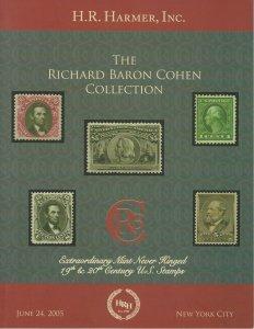 Richard Baron Cohen Collection of U.S., H.R. Harmer, Sale 2955, June 24, 2005