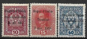 COLLECTION LOT OF #571  AUSTRIA ITALY OCCUPATION 3 MNH/MH 1918 CV +$55 2 SCAN
