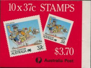 Australia booklet 1988 SG1121 37c Postal Services type II MNH