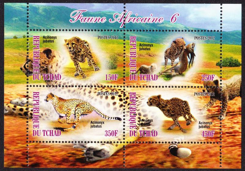 Chad Wildlife Sheetlet issue No 6