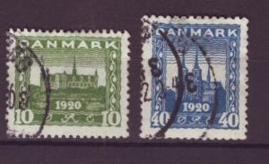 J749 jl,s stamps 1921 denmark used set/2 2013 scv $13.50