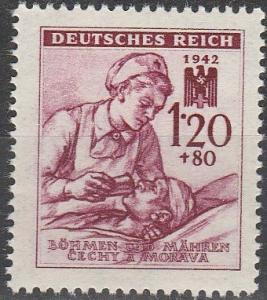 Czechoslovakia Bohemia & Moravia #B14  MNH