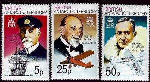British Antarctic SC#52, 57-58 MNH VF...Worth a Close Look!!