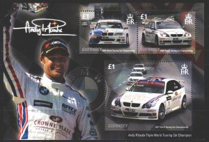 Guernsey. 2008. bl 46. Auto racing, sports cars. MNH.