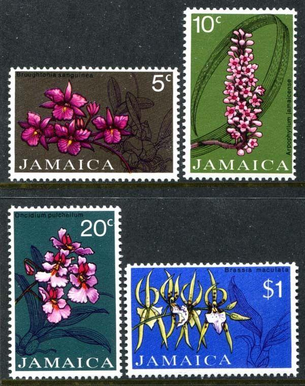 Jamaica 375-378, MNH, Flowers Orchids. s5990