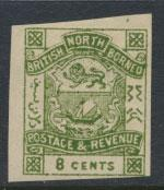 North Borneo  SG 43   blue green imperf   please see scans & details