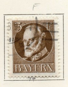 Bayern Bavaria 1914-18 Early Issue Fine Used 3pf. NW-120697