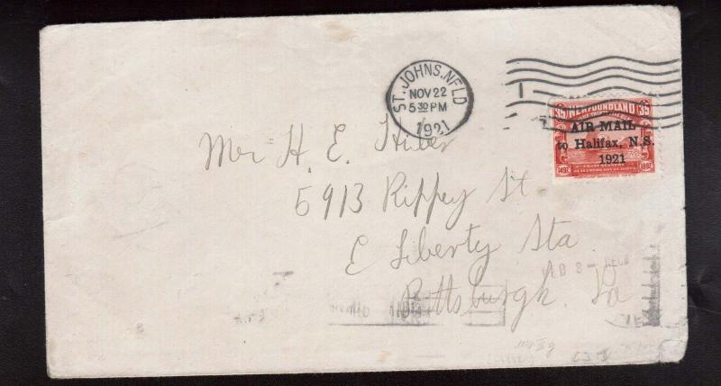 Newfoundland #C13J VF Used On Cover **With Certificate**