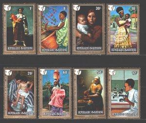Rwanda. 1975. 724-31. Paintings painting. MNH.