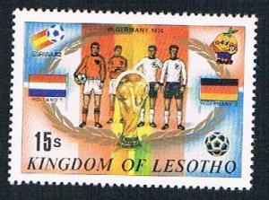 Lesotho 363j MLH Soccor Champions  1974 Germany 1982 (BP32214)