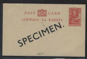 BECHUANALAND (P1703B) PSE KGVI 1D COW OVPT SPECIMEN