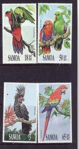 Samoa-Sc#786-9-Unused NH set-Birds-Parrots-1991-
