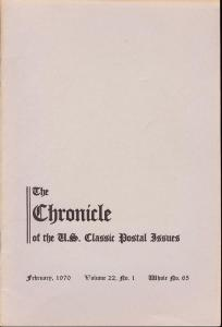 The Chronicle of the U.S. Classic Issues, Chronicle No. 65