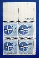 SCOTT # 1127 NATO PLATE BLOCK MINT NEVER HINGED GEM !!