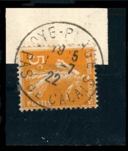 FRANCE - 1922 - CàD  OYE-PLAGE / PAS-DE-CALAIS  sur Yv.158/Mi.140 5c Orange