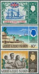 Gilbert & Ellice Islands 1967 SG132-134 75th Anniversary set MNH