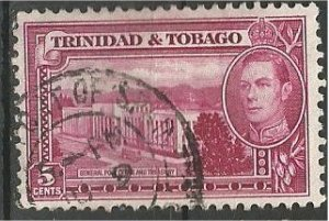 TRINIDAD AND TOBAGO, 1941, used 5p, George VI  Scott 54