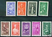 MONACO Scott B61-9 MH* stamp set CV$4.05