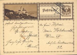 AUTRICHE / AUSTRIA 1929 MiP278b 10Gr light brown P. card (FORCHTENSTEIN) used