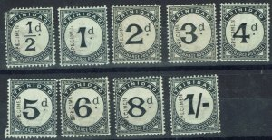 TRINIDAD 1885 POSTAGE DUE SPECIMEN VERTICAL SET ONLY RECORDED SET WMK CROWN CA