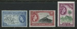 British Solomon Islands QEII 1956 1/3d to 2/6d unmounted mint NH