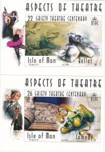 Isle of Man # 866-871, Gaiety Theatre, Maxi Cards, Mint Unused