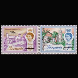 BERMUDA 1970 - Scott# 245-6 Buildings 10-12c LH