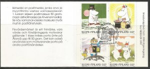 FINLAND  1070A  MNH,  CANCELLED,  COMPLETE BOOKLET,  MOOMIN CARTOON CHARACTERS