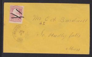 US Sc 65 on 1868 Cummington West Villiage, MA DPO Cover