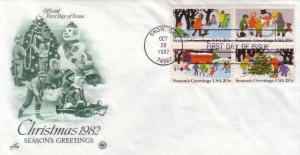 US FDC Sc# 2027 / 30 Christmas 1982 L818