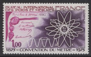 FRANCE SG2081 1975 CENTENARY OF METRE CONVENTION MNH