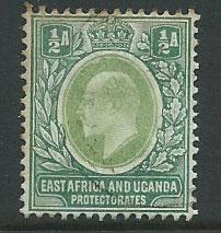 East Africa & Uganda SG 1 - 2 edges with toning  otherwis...