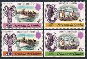 Tristan da Cunha 137-140,MNH.Michel 137-140. Crawfish industry,1970.Rock lobster
