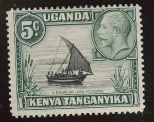 Kenya Uganda and Tanganyika KUT Scott 47 MH* type 1 5c CV$2.75