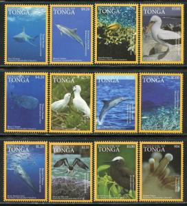 Tonga 2016 national geographic marine life whales sharks birds  set MNH