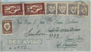 74107  - PORTUGAL - Postal History -  LATI  airmail COVER  to ARGENTINA 1941
