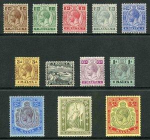 Malta SG69/88 1914 Set of 12 M/Mint