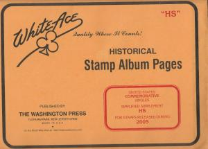 White Ace United States Commemorative Singles Simplified Supplement HS 2005