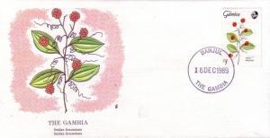 Gambia FDC SC# 880 Smilax Kraussiana Flower L166