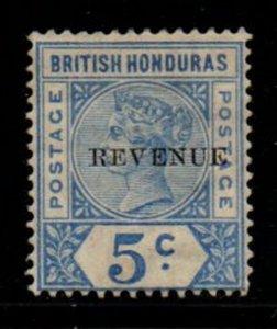 British Honduras Sc 48 1899 REVENUE overprint on 5 c  Victoria stamp mint