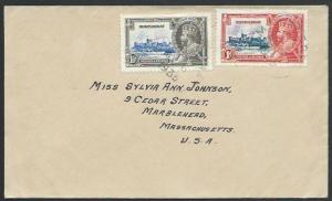 MONTSERRAT 1935 cover to USA, Jubilee franking.............................53151