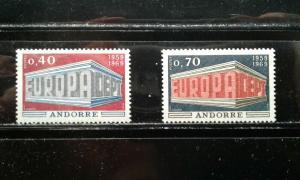 Andorra (French) #188-89 MNH e195.4331