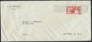 ITALY 1953 airmail cover to USA............................................53045