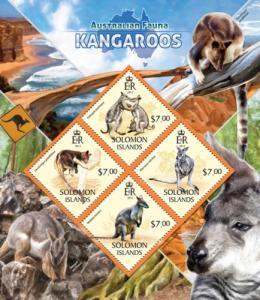 SOLOMON ISLANDS 2013 SHEET RED KANGAROOS WILDLIFE slm13413a