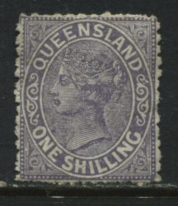 Queensland QV 1883 1/ violet unused no gum