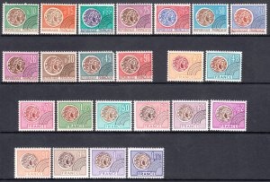 France 1964-76 Gallic Coin All Complete Mint MNH Sets Yv 130-133