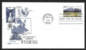 United States 2444 Wyoming Statehood Artmaster First Day Cover FDC (z3)