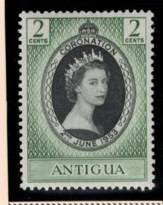 Antigua Stamp Scott #106, Mint Lightly Hinged, Coronation 1953 - Free U.S. Sh...